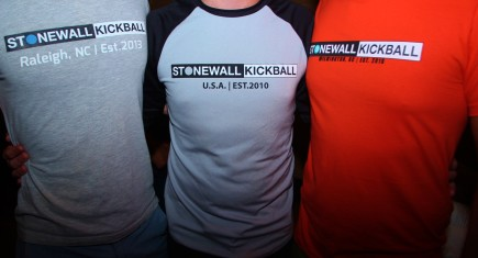 Stonewall kickball-Wilmington inaugural season T-shirt party